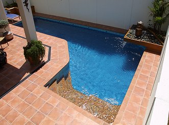 Clay Tile Pool Surround