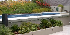 POOLS BUILT ON SLOPING GROUND