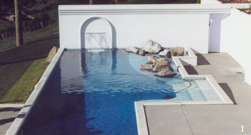 Aqualux lined concrete pool