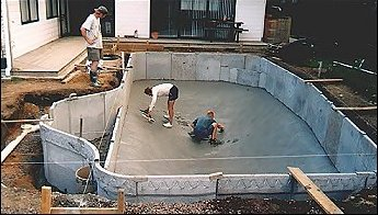 Diy concrete block swimming pool construction diy do it for Precast concrete homes florida