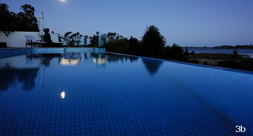 Glass tile concrete pool